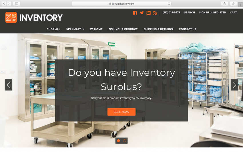 Buy.Z5Inventory.com allows healthcare providers to sell & buy medical supplies.