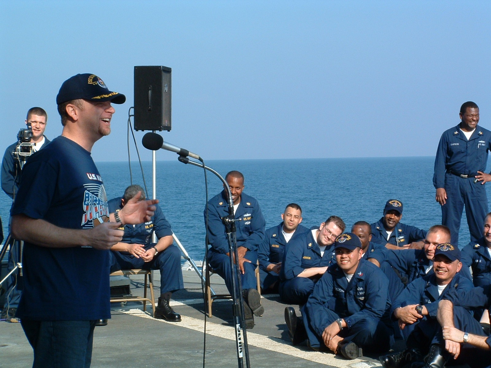 Comedian Don Barnhart Entertaining The Troops