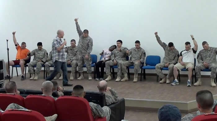 Don Barnhart's Hypnomania Show Entertaining The Troops Overseas