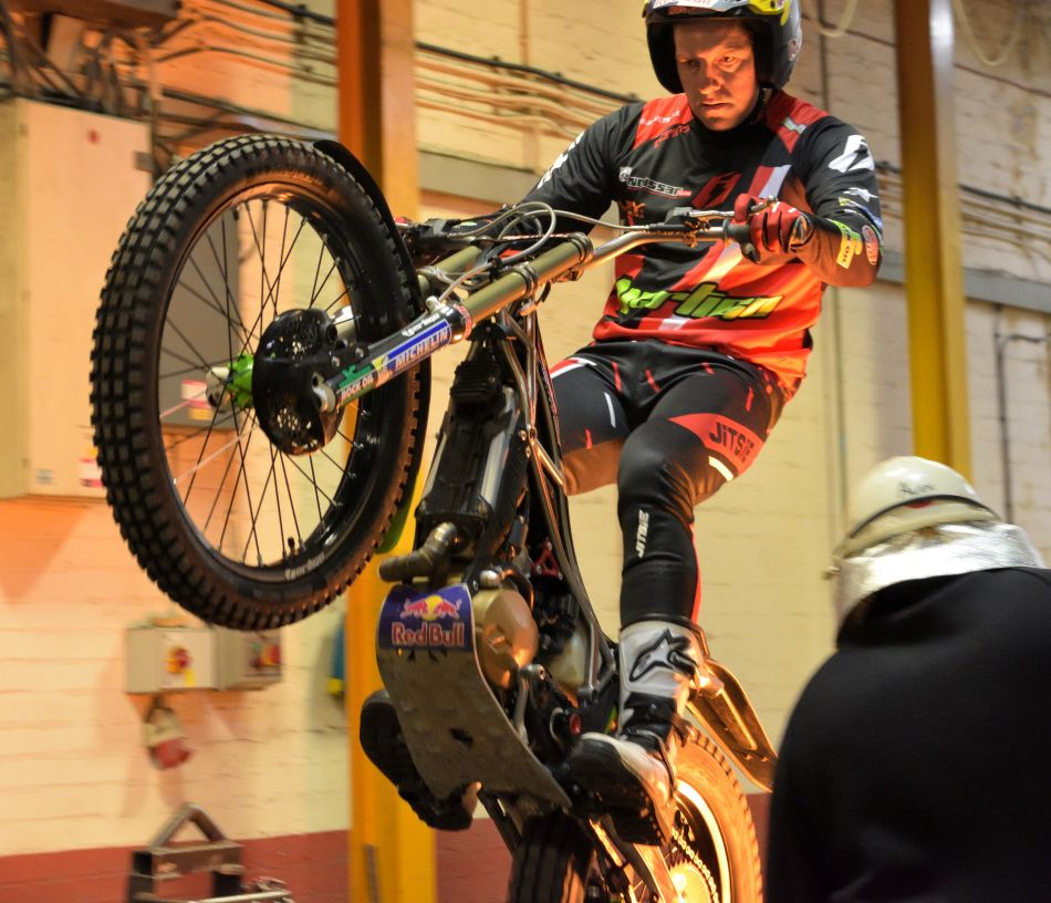 Dougie Lampkin rides at Wallwork Cast Alloys
