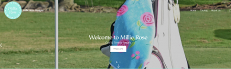 Millie Rose Designs Golf and Tennis Towels