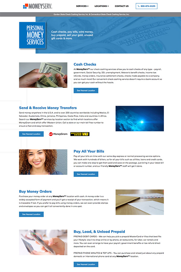 MoneyServ Services Page