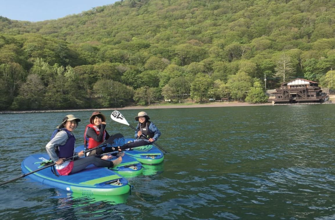 Paddle Boarding on Nikko's Lake Chuzenji