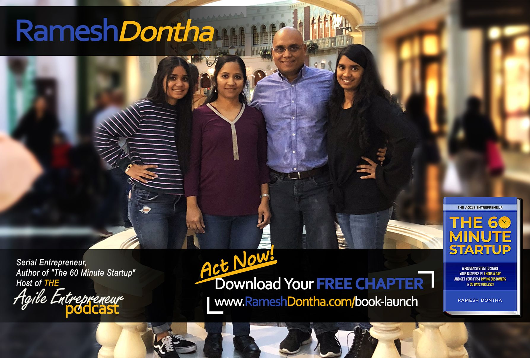 Ramesh Dontha author of The 60 Minute Startup