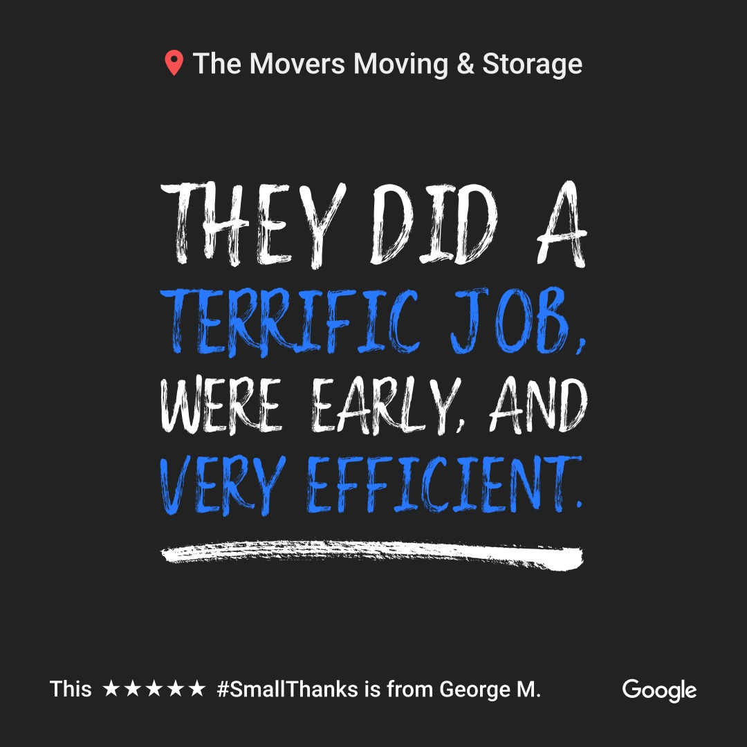 The Movers Strives for 5 Star Reviews From Every Customer